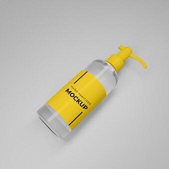 Mockup di bottiglia disinfettante per le mani 3d