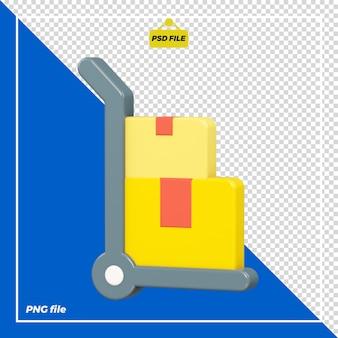 Design 3d del carrello a mano