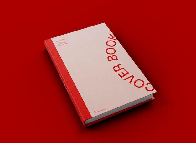 Mockup di libro con copertina rigida 3d