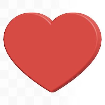 3d icona del cuore