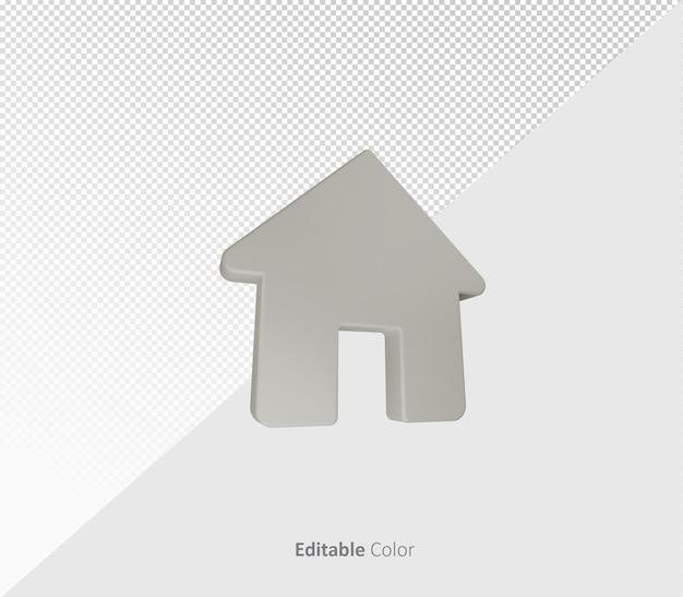 Modello 3d home psd con colori modificabili