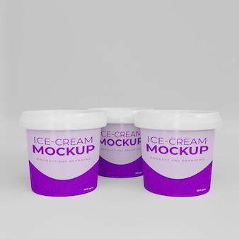 Mockup di barattolo di gelato 3d
