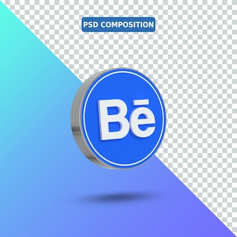 Icona 3d behance logo