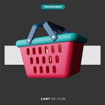 Icona 3d del carrello