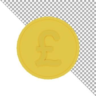 Icona 3d monete d'oro libbre