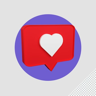 Icona 3d amore instagram