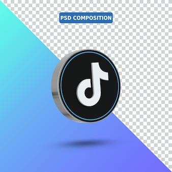 Icona 3d logo tiktok