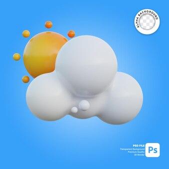 3d icona meteo giornata nuvolosa