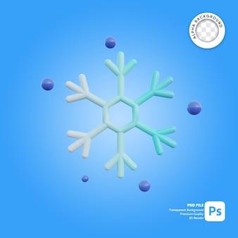 Fiocco di neve del tempo dell'icona 3d