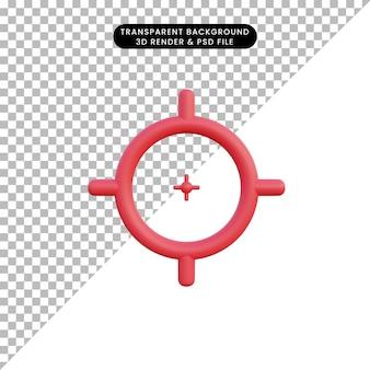 Obiettivo dell'illustrazione 3d