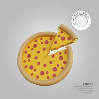 Illustrazione 3d del pacco pizza grande