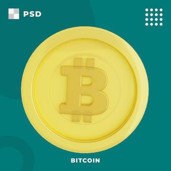 Illustrazione 3d di bitcoin