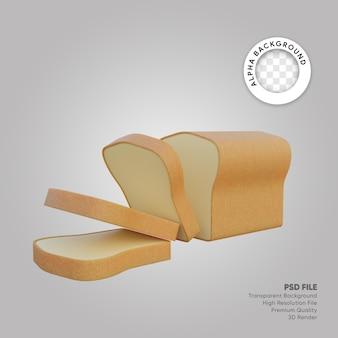 Pane con illustrazione 3d