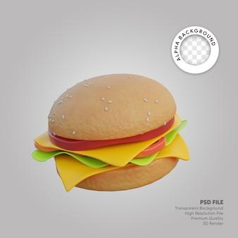 Hamburger di illustrazione 3d