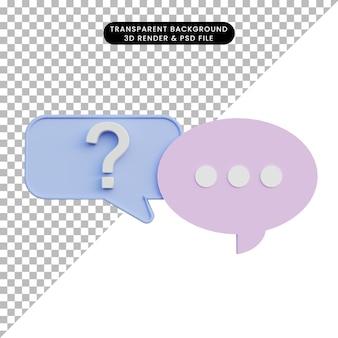 Pop-up di chat con illustrazione 3d