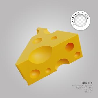 Illustrazione 3d formaggio