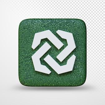 Illustrazione 3d del logo del simbolo di criptovaluta