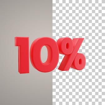 Illustrazione 3d sconto del 10 percento