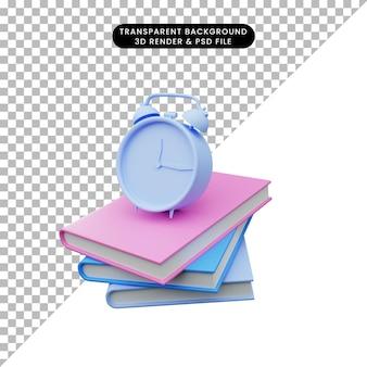 Illustrazione 3d dell'istruzione torna a scuola