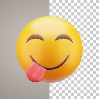 Emoticon di illustrazione 3d