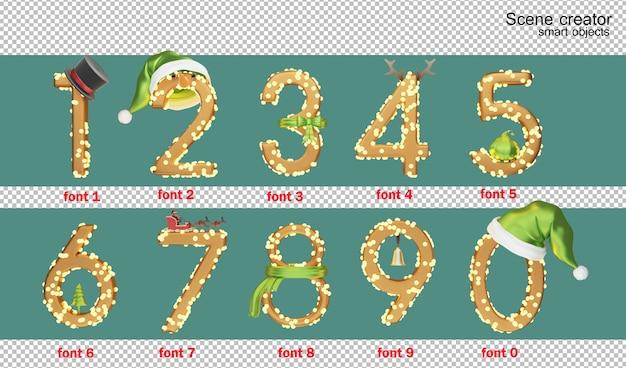 Giorno di natale di alfabeto inglese dell'illustrazione 3d