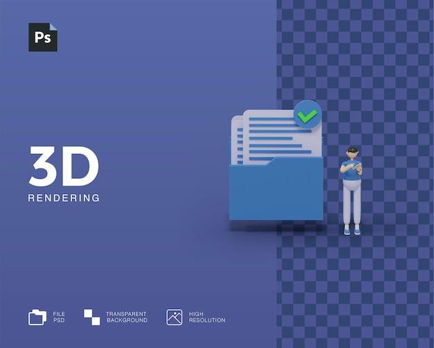 Accesso alla cartella delle illustrazioni 3d