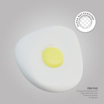 Uova fritte illustrazione 3d