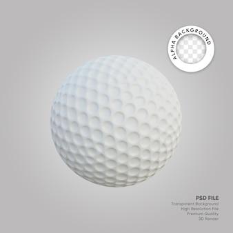 Illustrazione 3d della pallina da golf