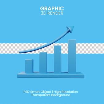 Illustrazione 3d del concetto di grafico