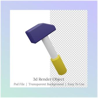 Illustrazione 3d di un martello per le esigenze della festa del lavoro