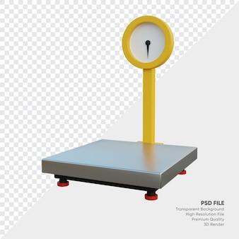 Illustrazione 3d di scaler di beni industriali