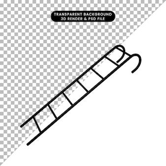 Illustrazione 3d dell'oggetto semplice della scala