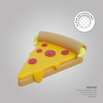 Pizza illustrazione 3d