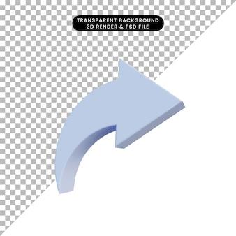 Condivisione di icone semplici di illustrazione 3d