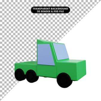 3d illustrazione semplice icona trasporto auto