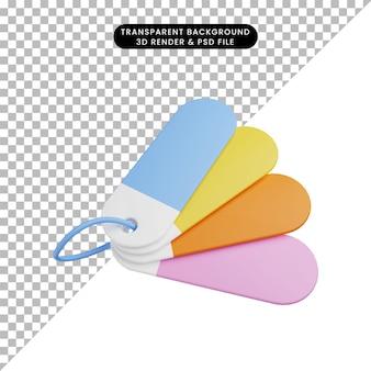 Etichetta colore oggetto semplice illustrazione 3d illustration