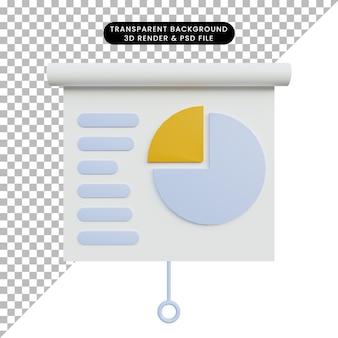 Scheda di rapporto dati oggetto semplice illustrazione 3d illustration
