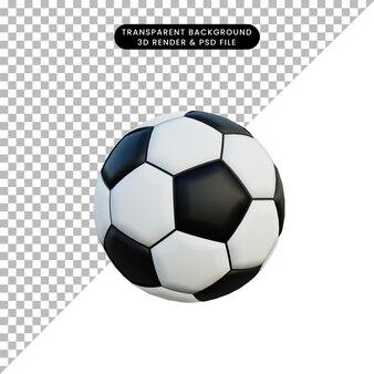 Pallone da calcio semplice oggetto illustrazione 3d