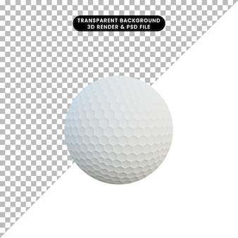 3d illustrazione semplice oggetto sport pallina da golf