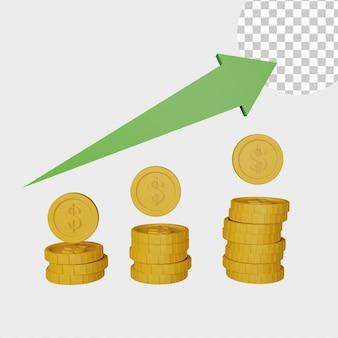 3d illustrazione borsa icona