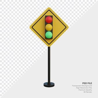 Illustrazione 3d del segnale stradale