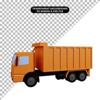 Illustrazione 3d del camion di trasporto