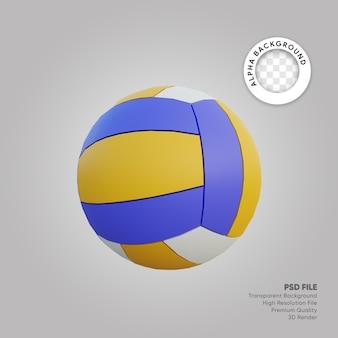 Illustrazione 3d della palla da pallavolo