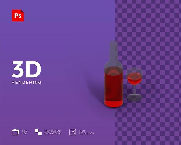 Illustrazione 3d vino