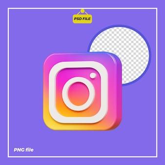 Icona 3d instagram