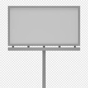 Rendering 3d isolato dell'icona del tabellone per le affissioni