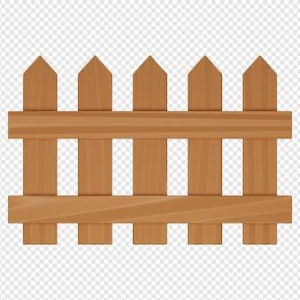 Rendering 3d isolato dell'icona del recinto psd