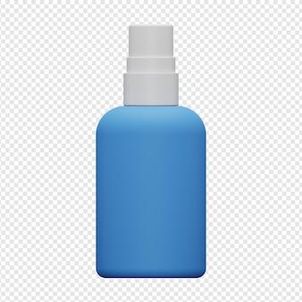 Rendering 3d isolato dell'icona dello spruzzatore di disinfettante per le mani psd