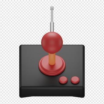 Rendering 3d isolato dell'icona del joystick del telecomando