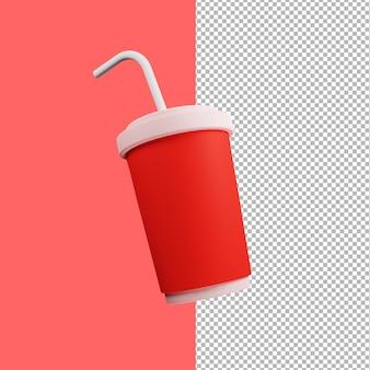 Illustrazione della tazza di succo 3d